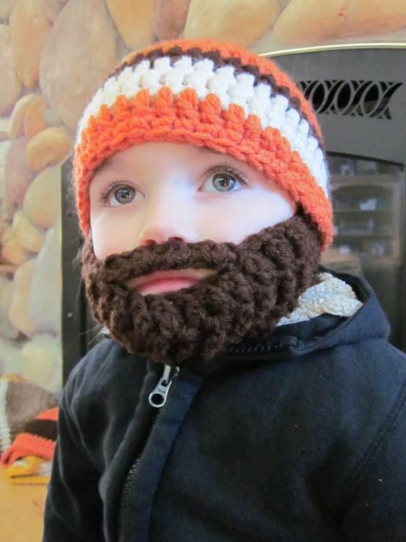 Kids ULTIMATE Bearded Beanie Orange Mix image 0