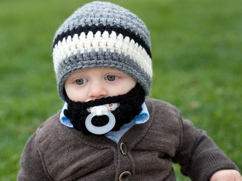 Infant ULTIMATE Grey Bearded Beanie Mix image 0