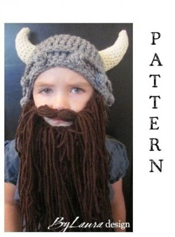 Pattern Kids Viking Hat And Beard Etsy