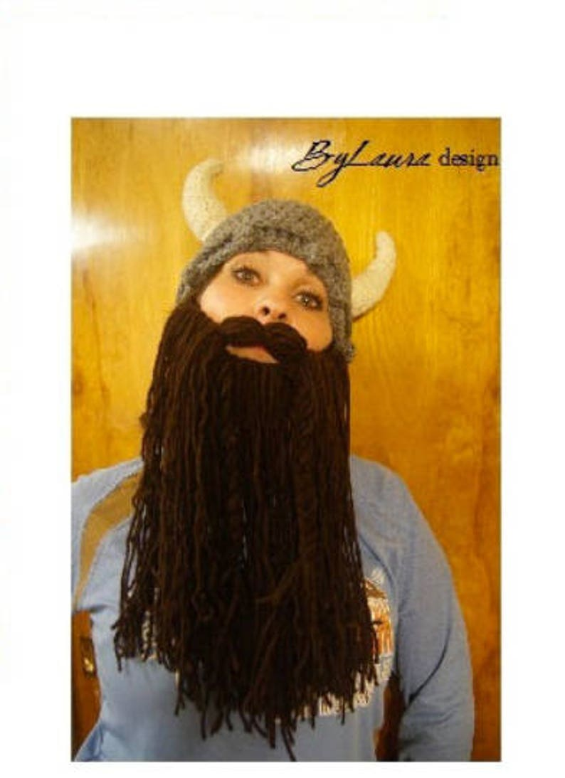ADULTS Viking Hat and Beard image 0