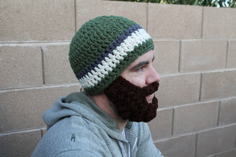 Adult ULTIMATE Bearded Beanie Sage Charcoal Mix image 0