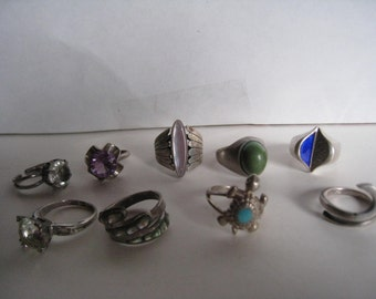 vintage sterling silver rings your choice 25.00 ea