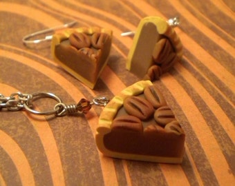 Pecan Pie Set - Necklace and Earrings (Post or Dangle)