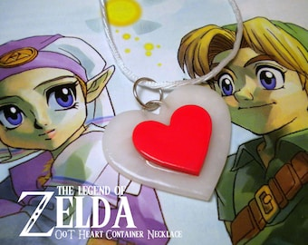 Ocarina of Time Heart Container Necklace - Legend of Zelda - Nintendo