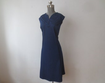 Vintage 80/'s Blue And White Sleeveless Dress By Ms Lea Casuals \\ No Size \\ Measures As A Large or 12-14 \\ See Measurements \\ Made In The USA