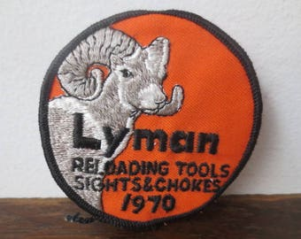 c6c25ada091 Vintage  70s Lyman Reloading Tools Embroidered Patch