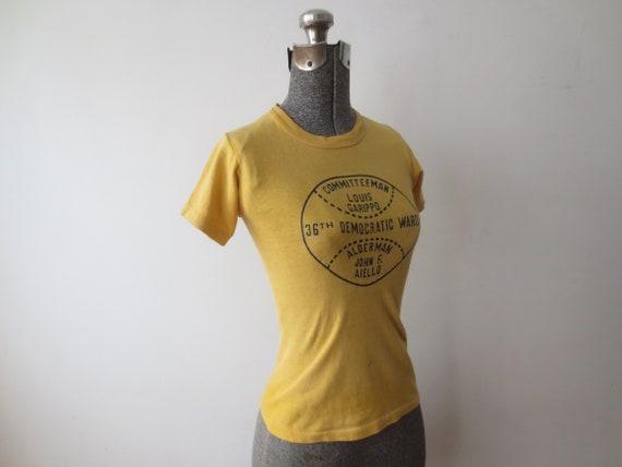 Vintage '60s T-Shirt, Chicago 36th Democratic War… - image 10