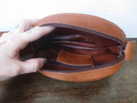 Vintage  70s Genuine Leather Saddle Bag by Sabina  f801844e538cd