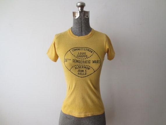 Vintage '60s T-Shirt, Chicago 36th Democratic War… - image 9