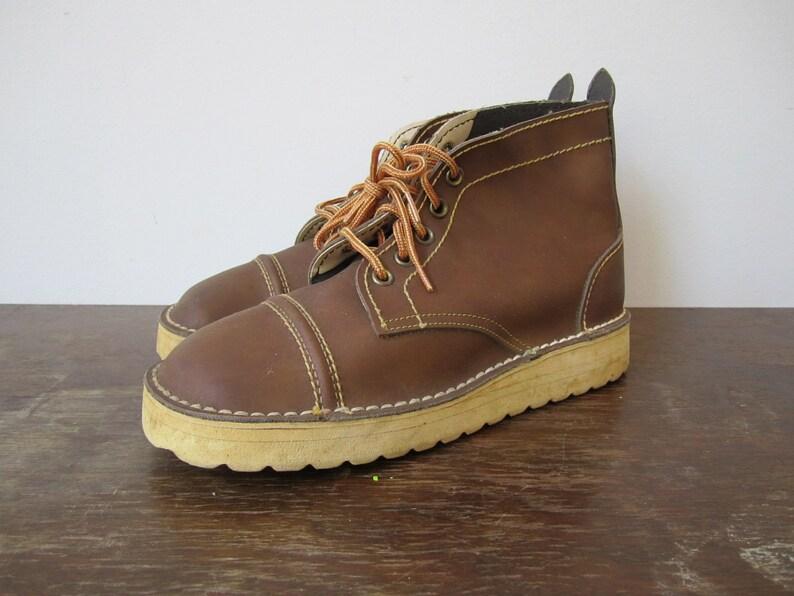 4cf71d3347618 Vintage '60s Mod Deadstock Chocolate Desert Boots, US Women's Sz 5