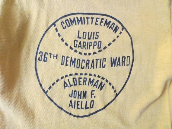 Vintage '60s T-Shirt, Chicago 36th Democratic War… - image 5