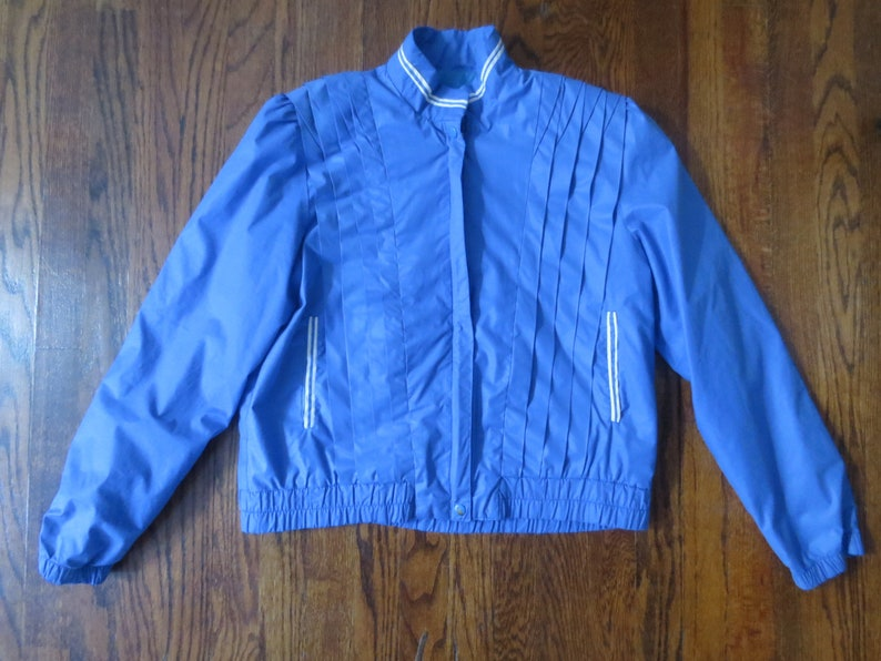 Medium Vintage /'70s/'80s Jerry/'s Angels Jacket w Killer Pleated Detailing Lightweight Spring Jacket
