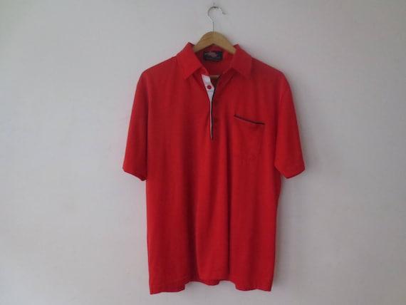 Vtg 70s Puritan Navy Blue Button Down Short Sleeve Safari Shirt M Leisure Wear
