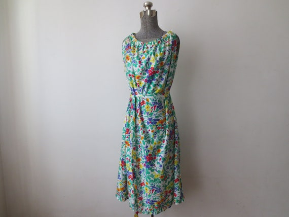 Size Large NWT Large Vintage /'70s Deadstock Gabar Glossy Nylon Beach Dress  Cover-Up with Belt