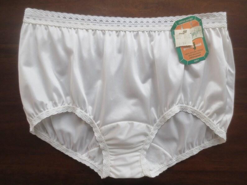 fa1ea660407d Vintage Deadstock Greenco Maid Glossy White Nylon Panties w/ | Etsy