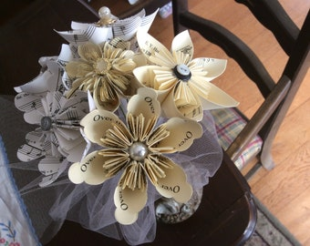 Book Page Bouquets