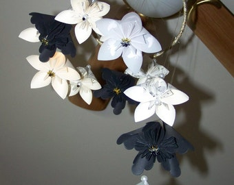Book Page, Sheet Music, or Map Origami Flower Mobile