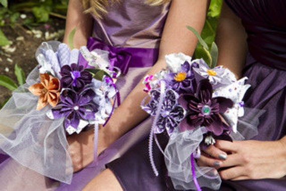 Paper flower wedding bouquet made to order 10 origami flowers etsy image 0 mightylinksfo