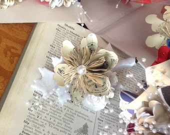 Origami Flower Single Boutonniere or Small Corsage
