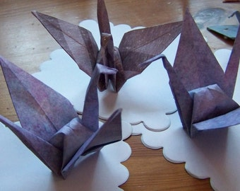 30 Origami Paper Cranes For Your Wedding Or Celebration