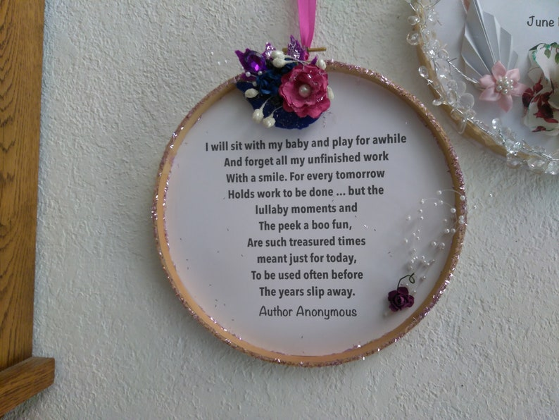 or Wedding Wall Decor Announcement and Poem 2 Displays Included And Personalized Baby