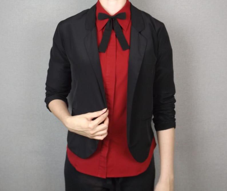 7990e865b553 Black Cotton Western Style Bow Tie Maverick Kentucky Colonel | Etsy