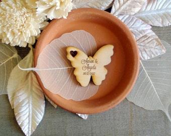 75 Wood Butterfly Wedding Favors Butterflies