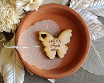 Wood Butterfly Wedding Favors 100 pieces Butterflies table decoration custom wedding favors
