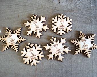 75 Snowflake Wedding Favors Christmas wedding Winter Wedding