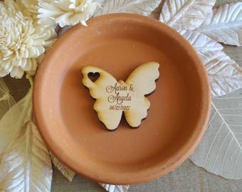 Wood Butterfly Wedding Favors 50 pieces Butterflies