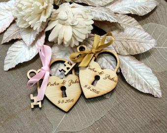150 Heart and Key Wedding Favors love locks