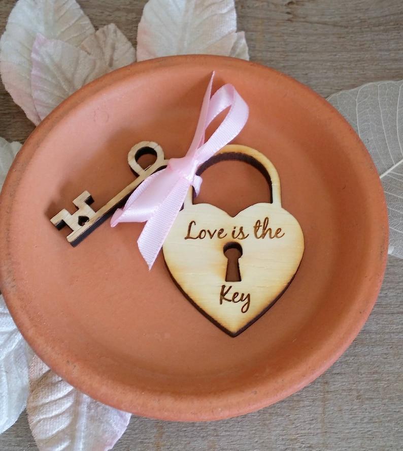 Sample Heart and Key Custom Engraved wedding favor