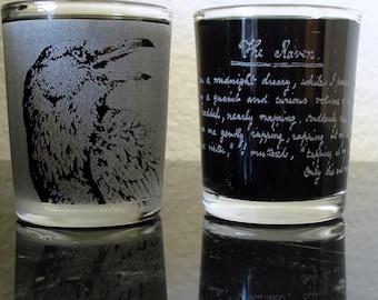 The Raven Shot Glass Set Edgar Allan Poe