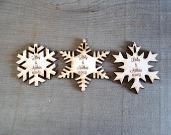 70 Snowflake Wedding Favors Christmas wedding Winter Wedding