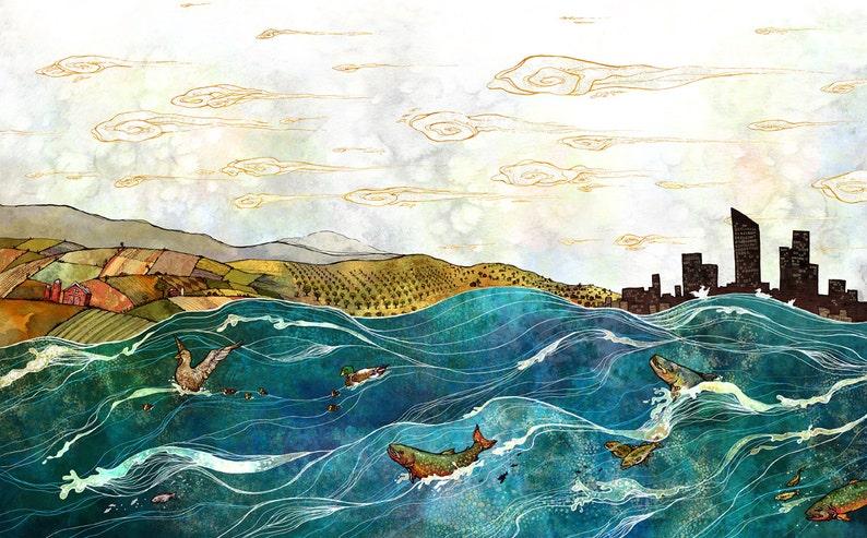 The Grand River // 11x17 Print image 1