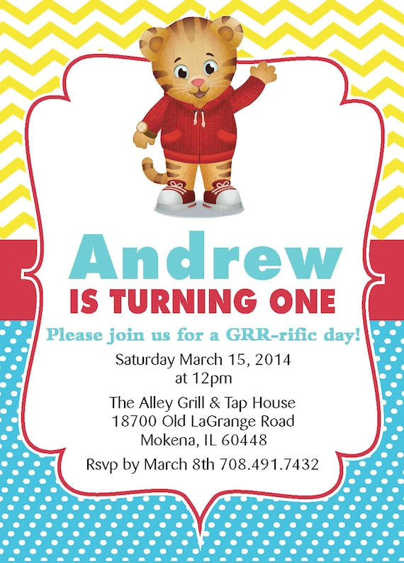 picture about Daniel Tiger Printable titled Daniel Tiger printable birthday invite