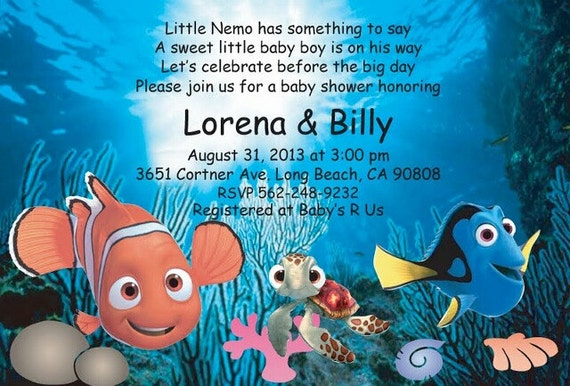 Finding Nemo Baby Shower Invitation Etsy