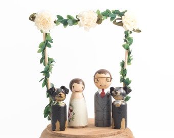 Wedding Cake Topper with Dogs, Dogs Cake Topper Wedding, Dogs Wedding Cake Topper, Wedding Cake Topper, Wedding Cake Toppers with Pets