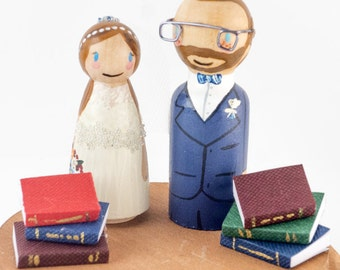Book Themed Wedding, book cake toppers, nerdy cake topper,  storybook wedding, book wedding cake toppers, harry potter wedding cake topper