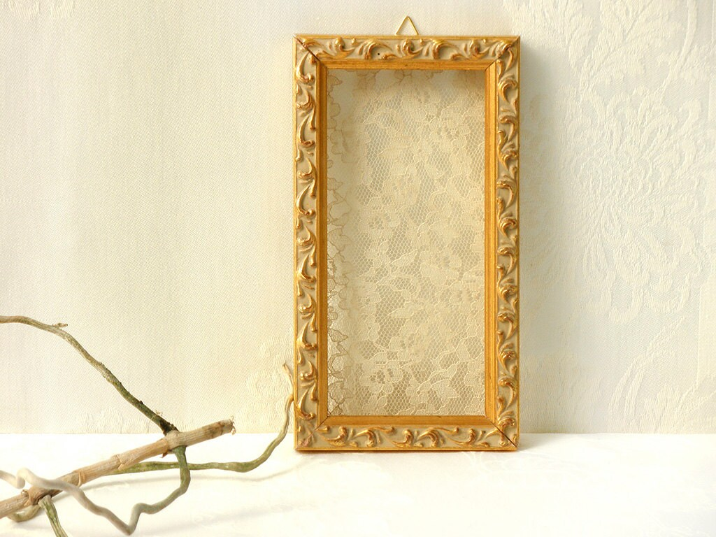 Wall Decor, Shabby chic Wall Art, Lace frame, Rustic wall decor ...