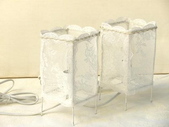 Coppia vintage lampada da tavolo paralume arredamento camera etsy