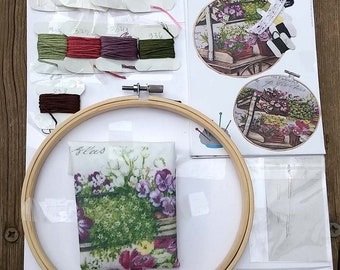 Embroidery Pattern, Embroidery Kit, Embroidery Pattern Kit, Diy Kit, DIY Craft Kit, Embroidery Hoop Art, Hand Embroidery, Diy Kit Embroidery