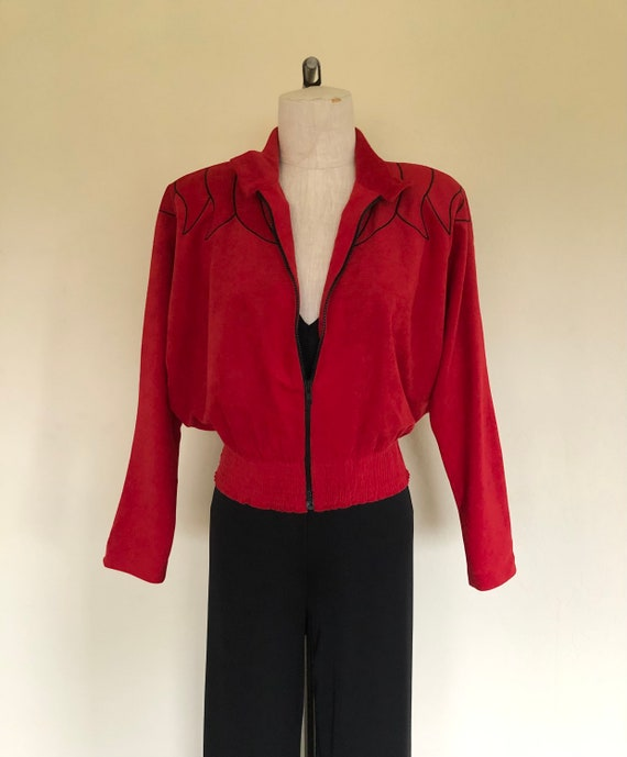 80s burgundy corduroy oversized jacket large drop shoulder bat wing sleeve button down coat minimalist big shoulder dark red jacket