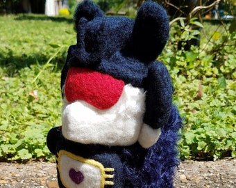 Alpacaformers! G1 Soundwave needle felted soft Transformers doll plush