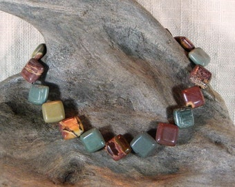 """GRAB BAG Lot of 10 bracelets, all 8.5"""" long, a variety of clasps, semiprecious stone jewelry My choice no customization"""