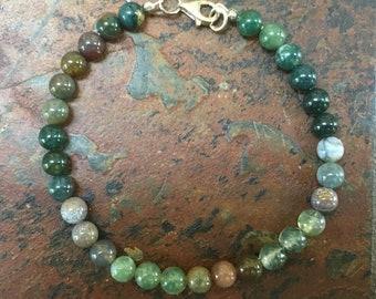 "Grab bag lot of 10 semiprecious stone bracelets 8.25"" various closure types semi precious stone jewelry bracelets various stones"