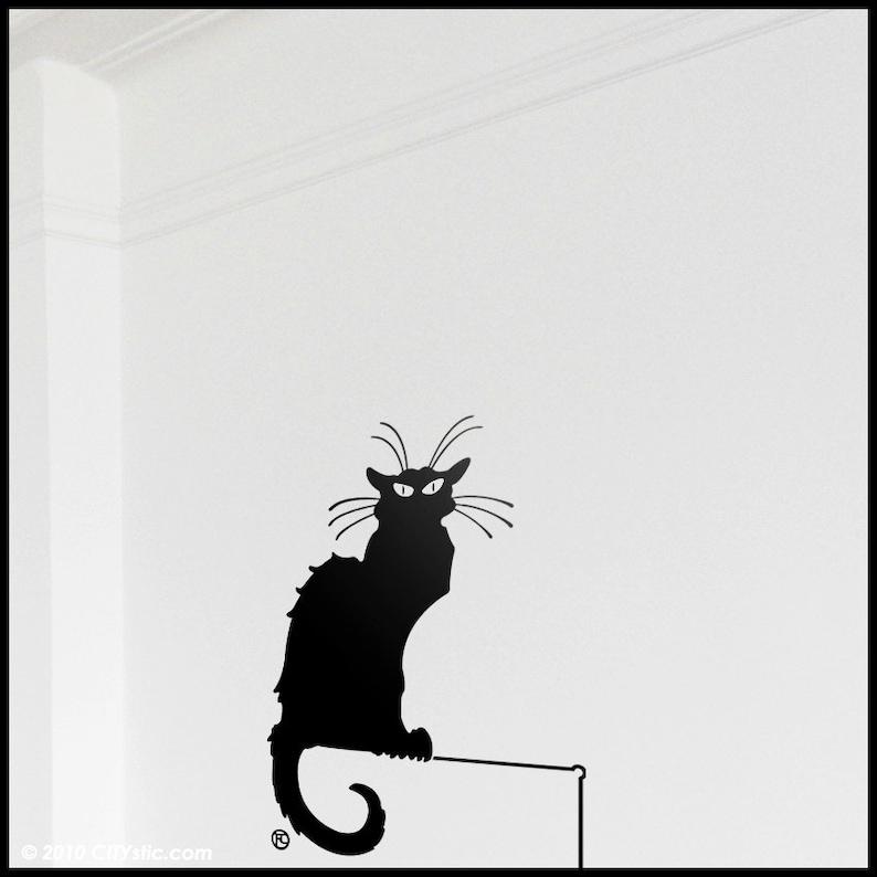 94d21a3e4accd1 BLACK CAT DECAL   Toulouse Lautrec Black Cat Steinlen. Paris