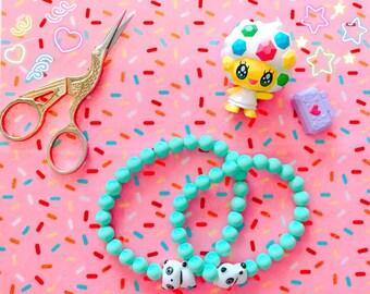 charm braclet | lucky panda charm bracelet | glass bead charm braclet