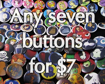 Any seven buttons