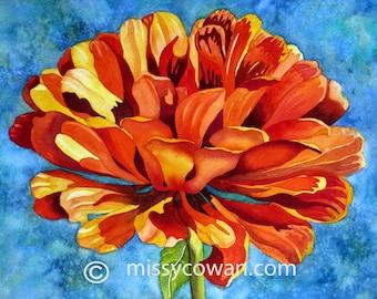 SHOW OFF -  Original Watercolor Painting